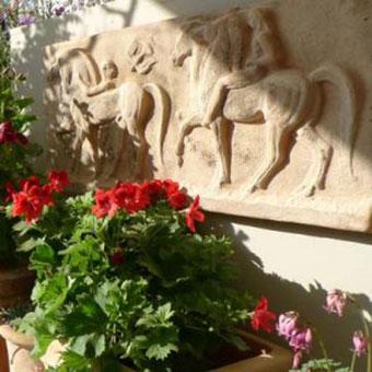 terracotta wall plaques
